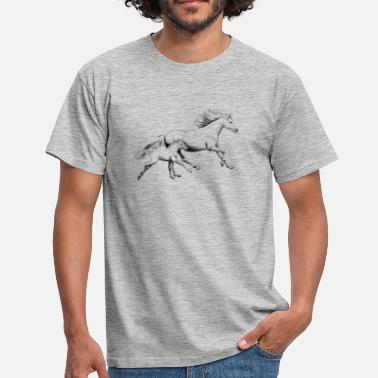 Mare Mare with foal - Men's T-Shirt