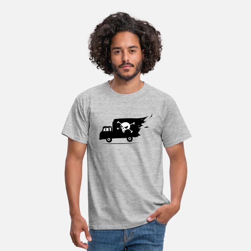 Camion T-shirts - camion pirate - T-shirt Homme gris chiné