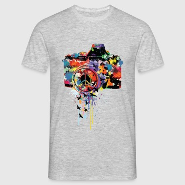 splattered camera - Männer T-Shirt