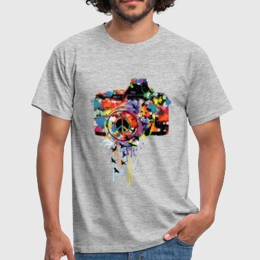 splattered camera - T-shirt Homme