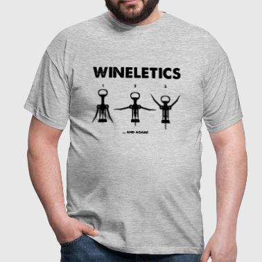 Wineletics - Wine Workout - Männer T-Shirt