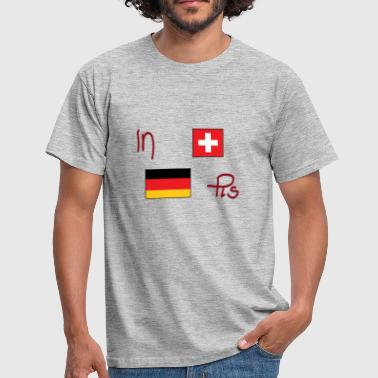 Flag motif Swiss German - Men's T-Shirt