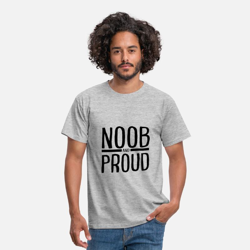 Noob T-shirts - NOOB and PROUD T-shirt Homme - T-shirt Homme gris chiné
