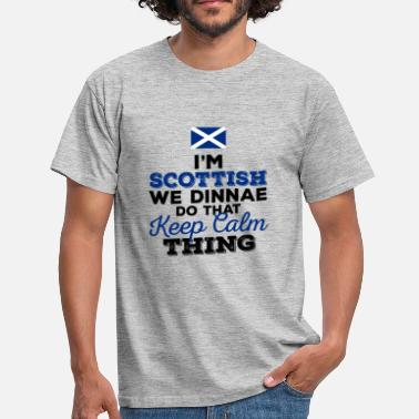 Scottish Gaelic I'm Scottish - Men's T-Shirt