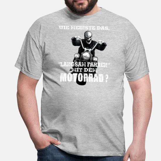 watch 2c91d 65127 Shirts für Biker - Coole Motorradfahrer-Klamotten Männer T-Shirt - Schwarz