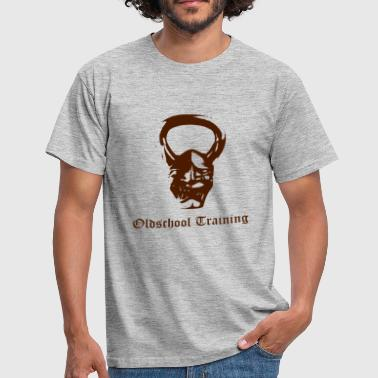 Oldschool Training Kettlebell Devil - Männer T-Shirt