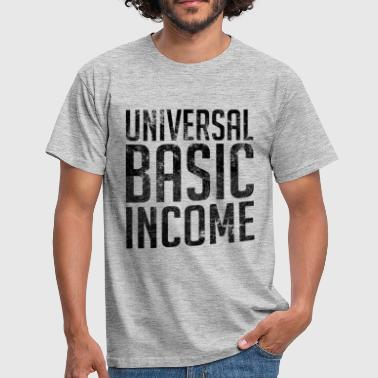 Universal Basic Income - T-skjorte for menn