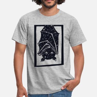 Black And White Collection Spacebat - Herre-T-shirt