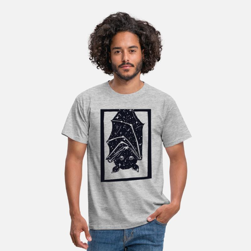 Black T-Shirts - Spacebat - Men's T-Shirt heather grey