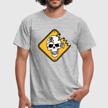 warning danger caution signboard captain mat - Men's T-Shirt