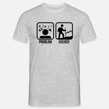 Problem hiking: problem solved - Men's T-Shirt