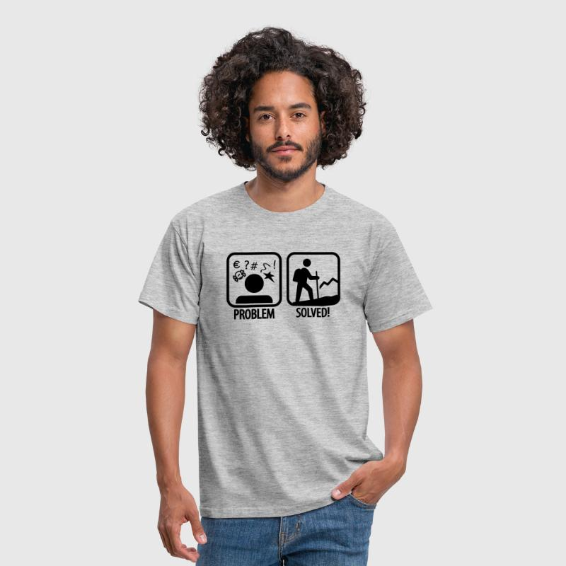 hiking: problem solved - Men's T-Shirt