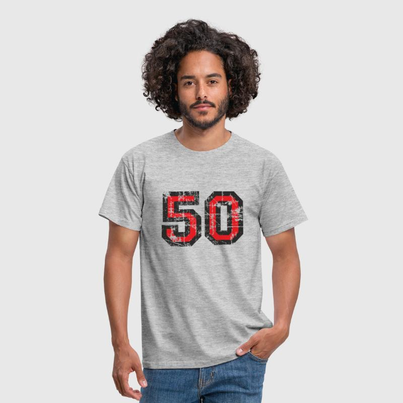 Number 50 Fifty 50th Birthday Design - Men's T-Shirt
