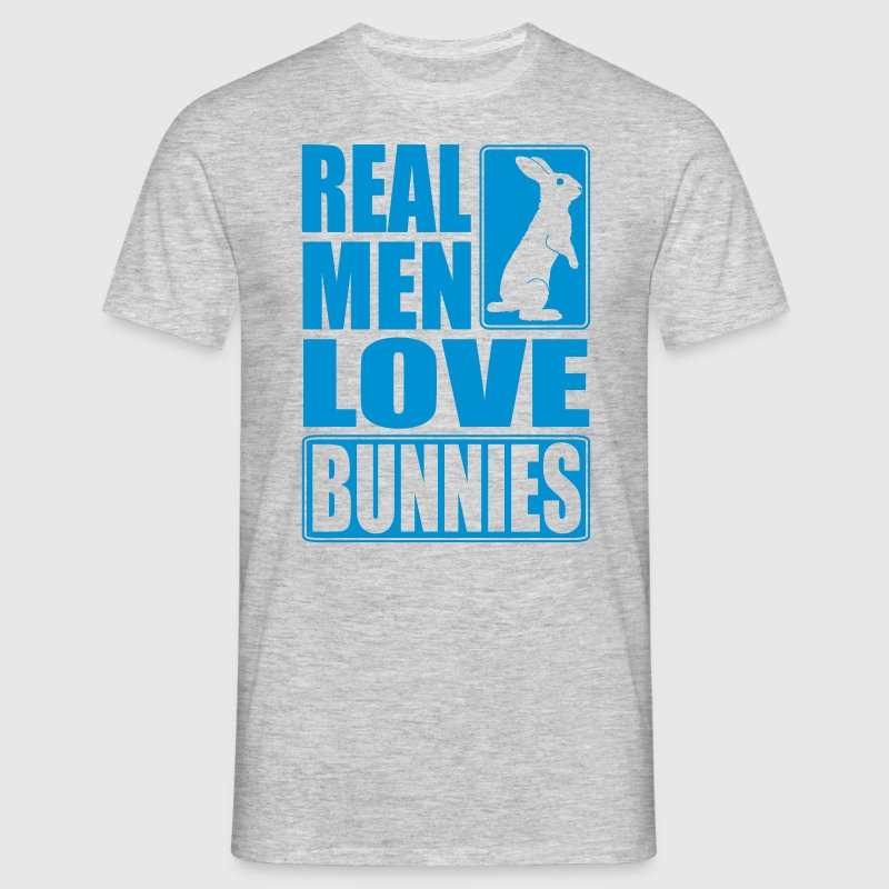 Real men love bunnies - Männer T-Shirt