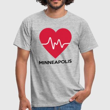coeur Minneapolis - T-shirt Homme