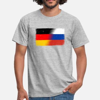 Flagge Deutsch- Russland (distressed) - Männer T-Shirt