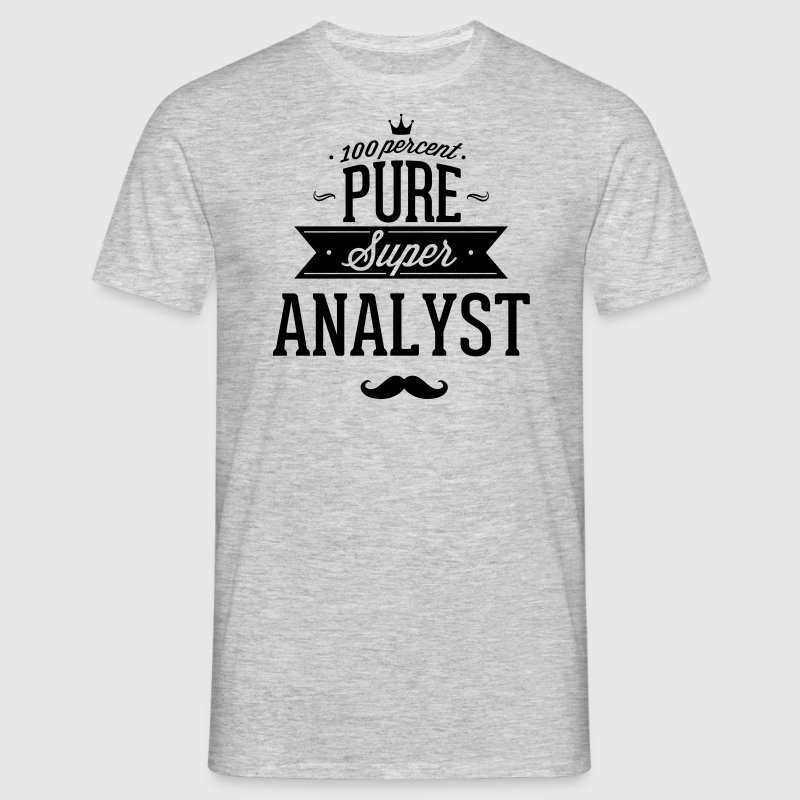 100 percent pure super analyst - T-skjorte for menn