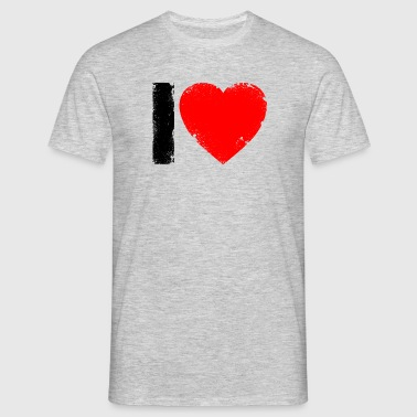i love, heart, i love you, J'aime - T-shirt Homme