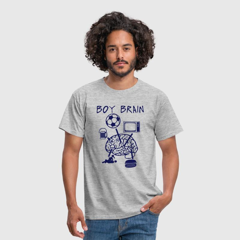 boy brain football TV beer sex quote eat - Men's T-Shirt