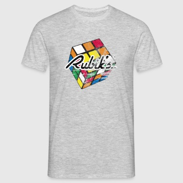 Rubik's Cube Colourful Retro Magic Cube - Men's T-Shirt