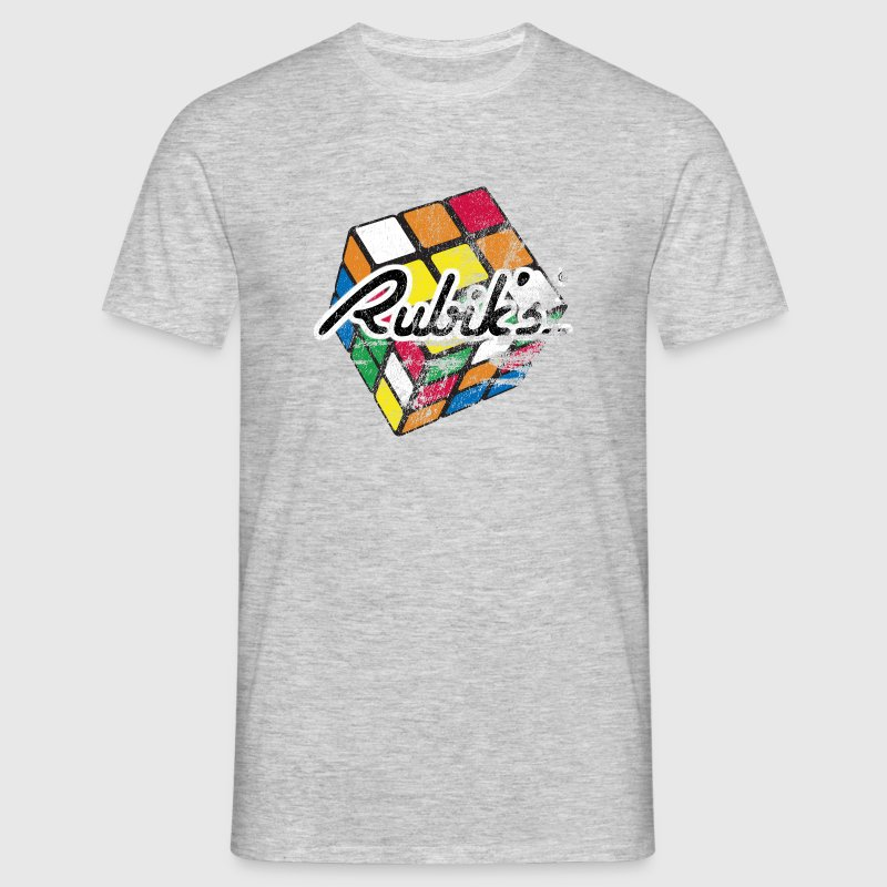 Rubik's Cube Distressed - Men's T-Shirt