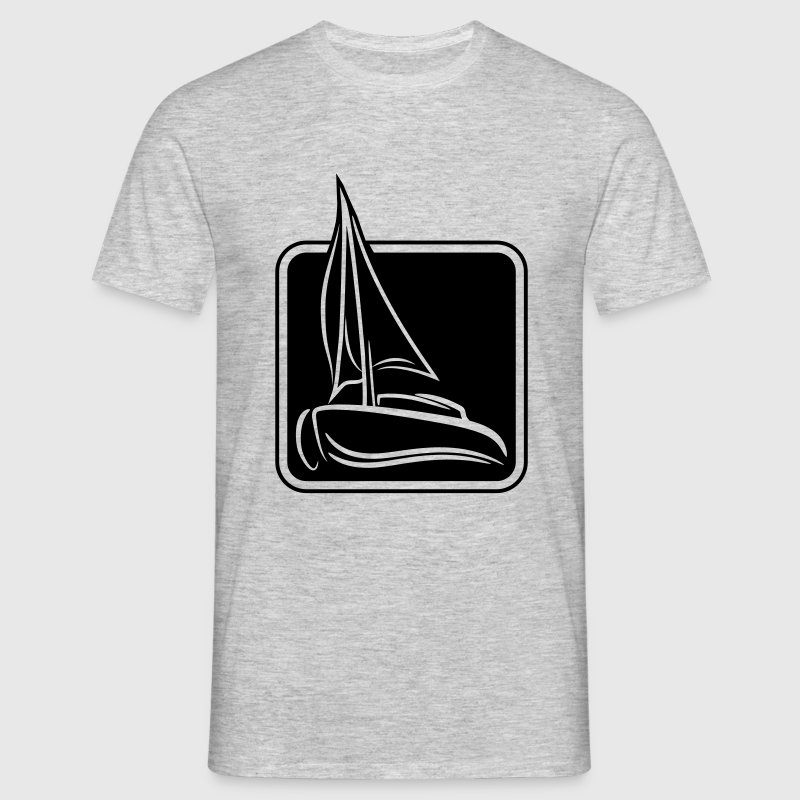 cool rahmen design button logo segeln boot schiff t shirts. Black Bedroom Furniture Sets. Home Design Ideas