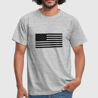 American Flag USA flag one colour - Männer T-Shirt
