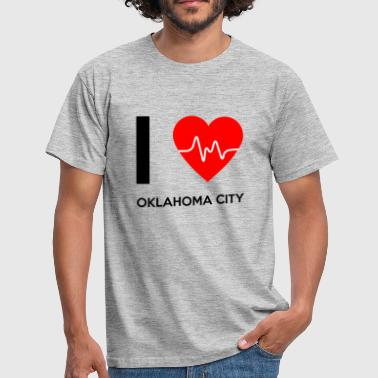 J'aime Oklahoma City - I Love Oklahoma City - T-shirt Homme