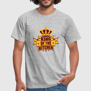 Arsch Backen wappen krone king of the kitchen koenig banner tex - Männer T-Shirt