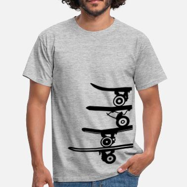Longboard Skater boards collection - T-shirt Homme