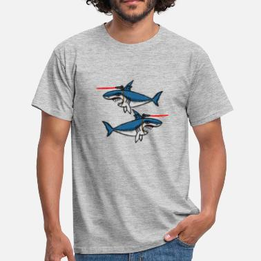Beam Sharks With Friggin' Laser Beams - Men's T-Shirt