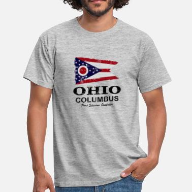 Ohio Ohio Flagga - Ohio Flagga - T-shirt herr