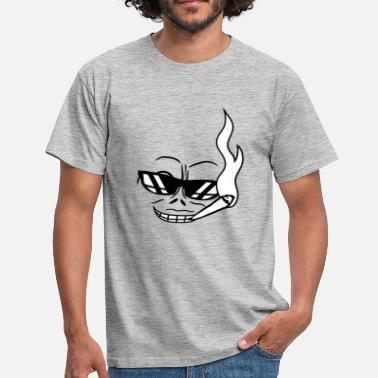 Joint Evil smoke sunglasses hemp weed joint weeds face evil m - Men's T-Shirt