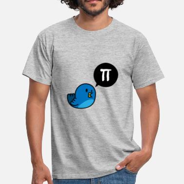 Pi Bird Tweet - Men's T-Shirt