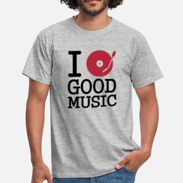 Jockey I dj / play / listen to good music - T-shirt herr