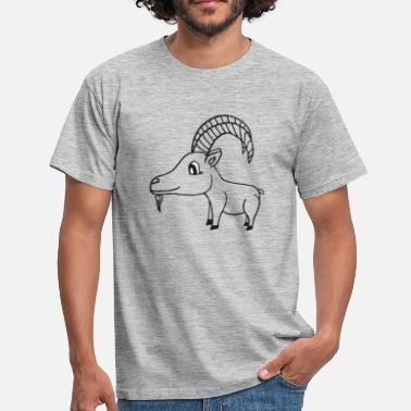 Little Big Horn sweet goat with horns, sweet gift idea - Men's T-Shirt