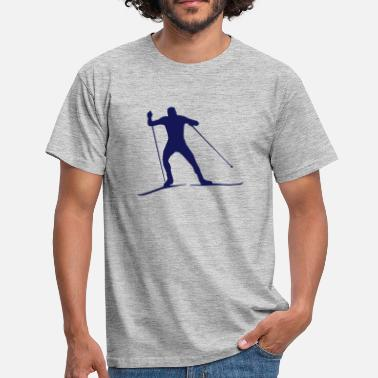 Cross Country  cross country skiing - skiing - ski - T-shirt herr