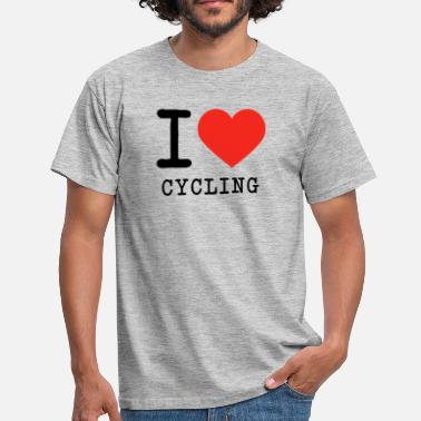 I Love Cycling I love cycling - Men's T-Shirt