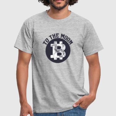 Moon Sprüche Bitcoin to the Moon - Männer T-Shirt