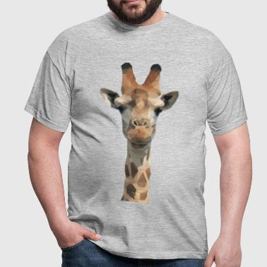 Low Poly Giraffe - Men's T-Shirt