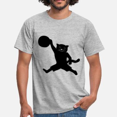 Slamdunk Cat Basketball Slamdunk Basketbollsgåva - T-shirt herr