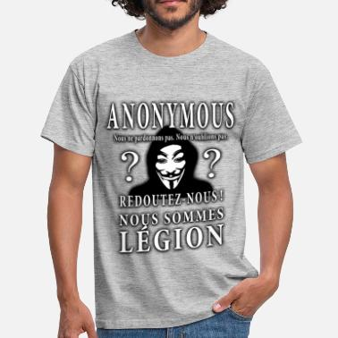 Hacker anonymous - T-shirt Homme