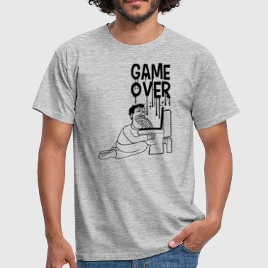 spil over toilet wc toilet puke opkast pause - Herre-T-shirt