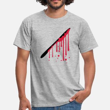 H drops blood graffiti knife cutlery food go h - Men's T-Shirt