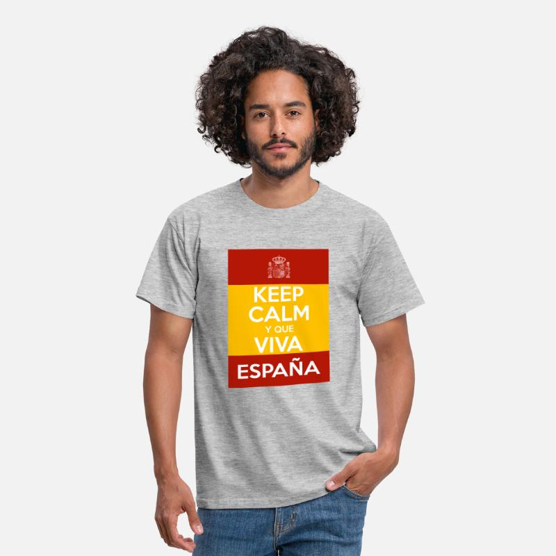 Keep Calm T-Shirts - Keep Calm y que viva España - Men's T-Shirt heather grey