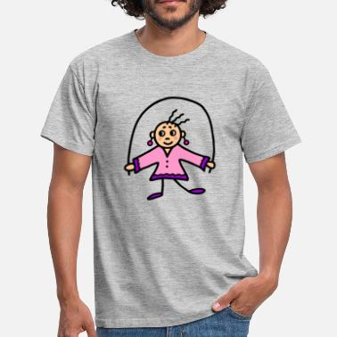 Rope Girl with rope - child jumping rope - Men's T-Shirt