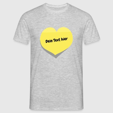 hart i love you Ik hou van je sticker - Mannen T-shirt