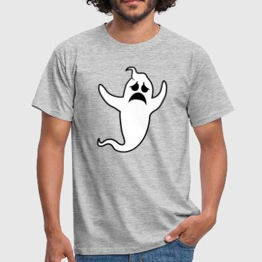 sad unhappy weeping howl ghost ghost - Men's T-Shirt