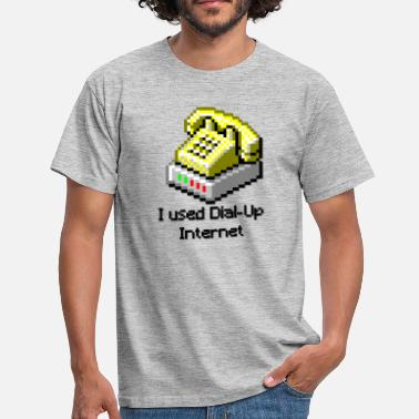 Internet I Used Dial Up Internet - Mannen T-shirt