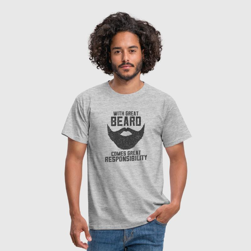 With Great Beard Comes Great Responsibility - T-shirt herr